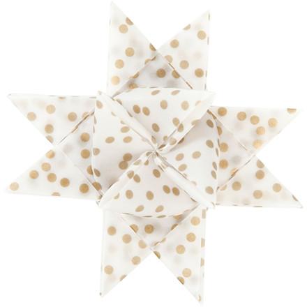 Stjernestrimler Vivi Gade hvid guld metalfolie B: 15 + 25 mm diameter 6,5 + 11,5 cm L: 44 + 86 cm - 48 stk