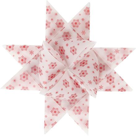 Stjernestrimler Vivi Gade hvid rød vellum B: 15 + 25 mm diameter 6,5 + 11,5 cm L: 44 + 86 cm - 48 stk