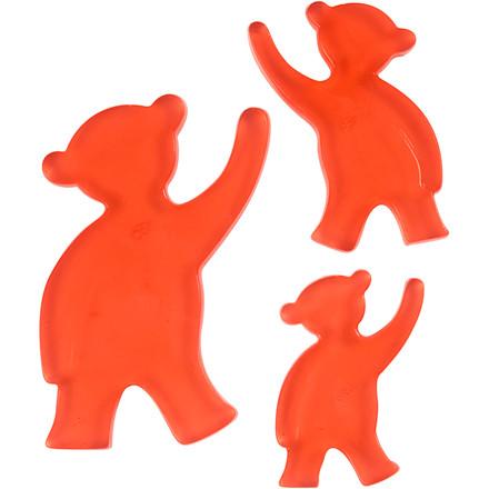 Støbeform bjørn str 6+8+10 cm  - udvendige mål 14,9 x 22 cm
