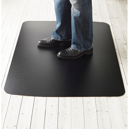 Stoleunderlag sort - Sid og Ståmåtte Matting Yoga - 120 x 150 cm