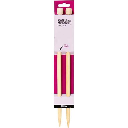 Strikkepinde nummer 12 | Bambus
