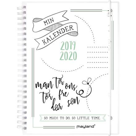 Studiekalender 19/20 Doodle II A5 uge højformat 20 8151 00