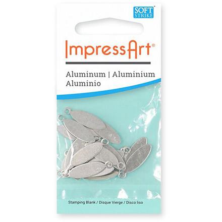 Tag, L: 20 mm, B: 5 mm, aluminium, Oval, 20stk., hulstr. 1,9 mm