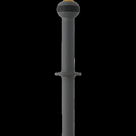 Teleskopskaft, Vikan ErgoClean, grå, med klik, 115-180 cm,