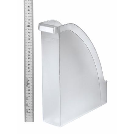 Tidsskriftsamler A4 Leitz Plus med 70 mm ryg - Mat transparent