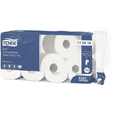 Tork 110316 Toiletpapir Premium T4 3-lag 29,5 meter - 72 toiletruller