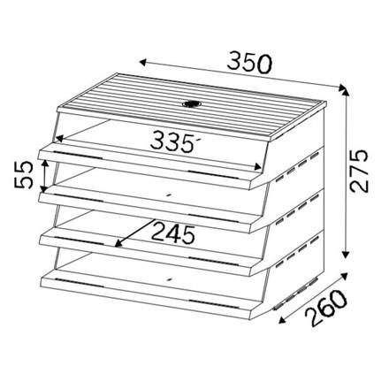 Twin Panorama brevbakkesystem A4 sort - 4 stk brevbakker i pakke