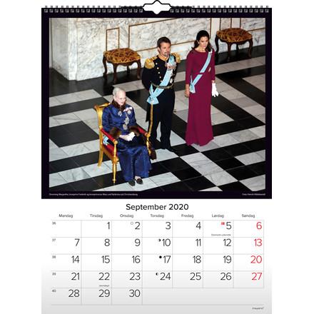 Vægkalender 2020 Kongehuset 29,5x39cm 20 0662 10