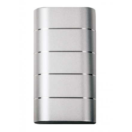 Verbatim Powerbank 10000Mah Grey/Silver Metal
