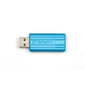 Verbatim USB key 32GB Store 'N' Go Pin StripeCaribbean Blue