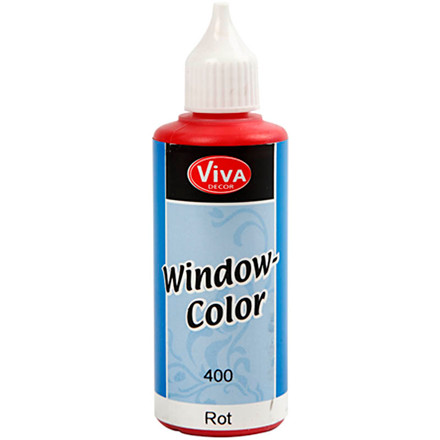 Viva Decor Window Color, rød, 80ml