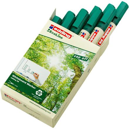 Whiteboardmarker edding 29 EcoLine grøn 1-5mm skrå spids