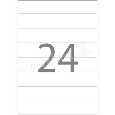 Xerox Labels - 24 pr. ark 70 x 36 mm 003R97415 - 100 ark