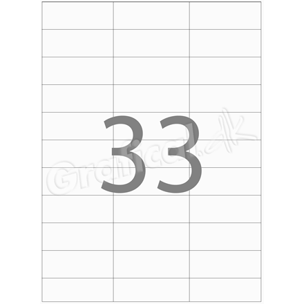 Etiketter Xerox - 33 pr. ark 70 x 25 mm 003R97410 - 100 ark