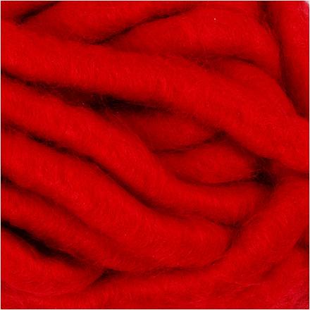 XL kæmpegarn af akryl længde 17 meter mørk rød manga | 200 gram