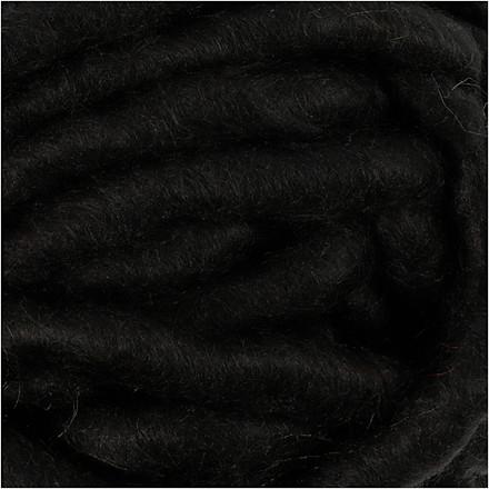 XL kæmpegarn af akryl længde 17 meter sort manga | 200 gram