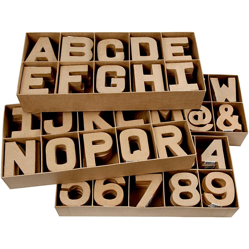 2f3ee331 Bogstaver tal og symboler af pap Højde 10 cm tykkelse 1,7 cm small ...