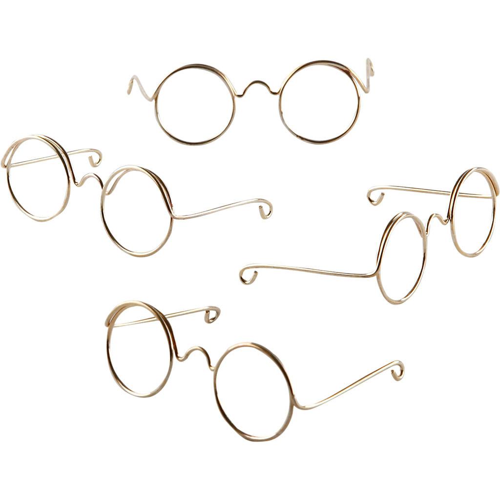 30a411ecb67c Briller bredde 50 mm hulstørrelse 17 mm guld
