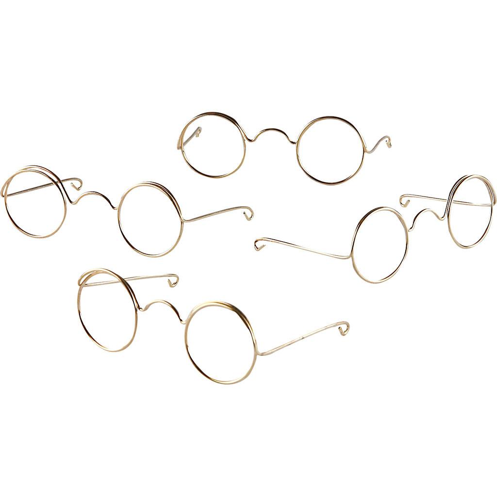 2e2e9931de59 Briller bredde 60 mm hulstørrelse 21 mm guld