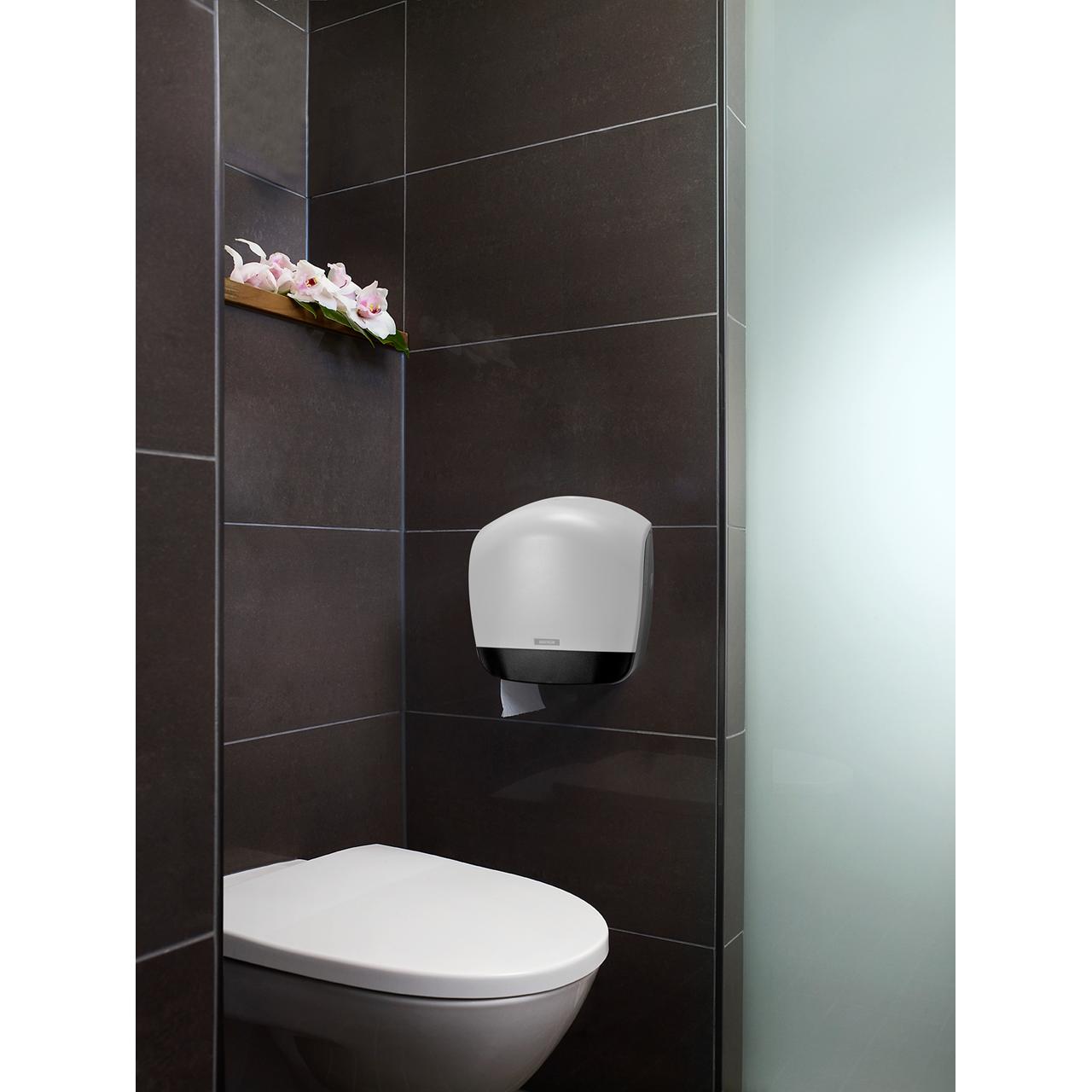 Katrin 90069 Gigant S Dispenser til toiletpapir - Hvid plast - Køb billigt på Grafical.dk