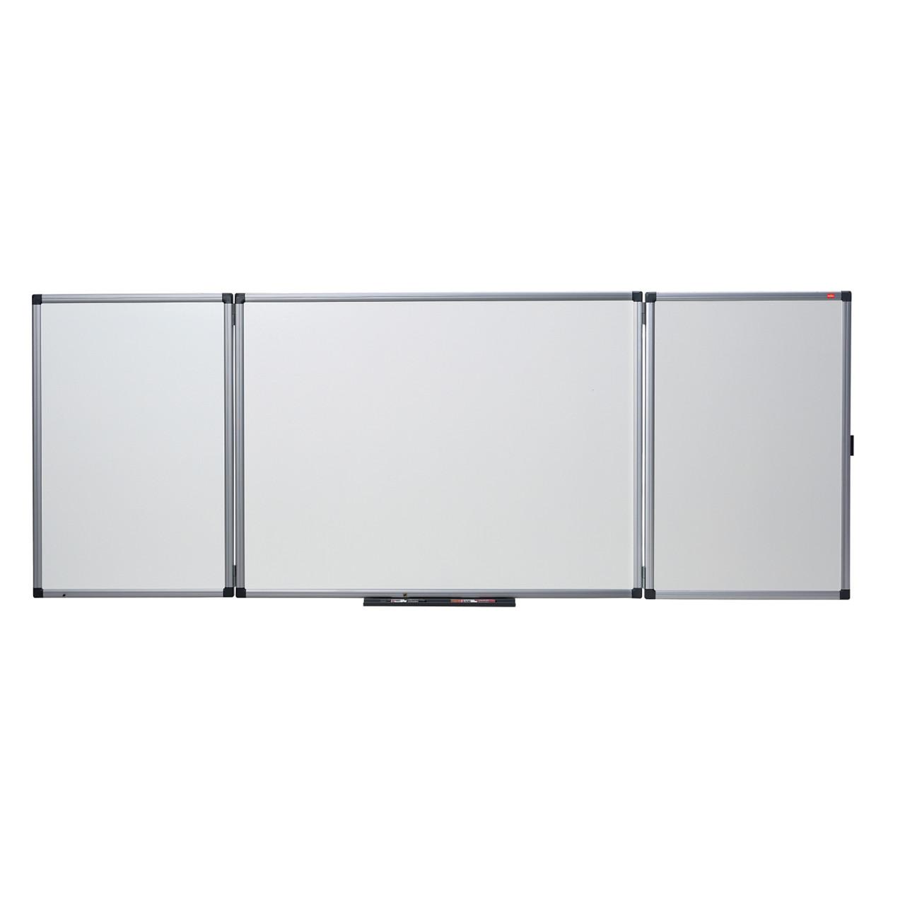 nobo whiteboard 120 x 90 cm med 2 foldbare paneler k b. Black Bedroom Furniture Sets. Home Design Ideas