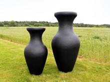 Kæmpe Unika vaser / Plantekrukker i fiberarmeret kompositmateriale