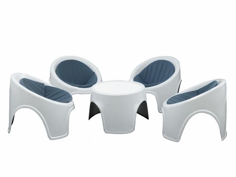 hvide plastik havemøbler