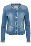 CREAM DELINA DENIM JACKET 10604521