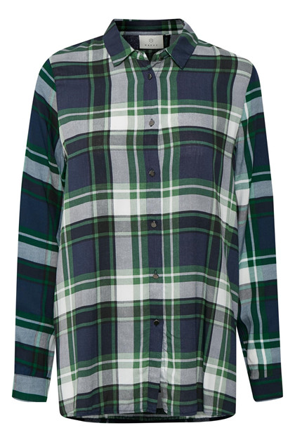 KAFFE CAROLINA CHECKED SKJORTE 10502478