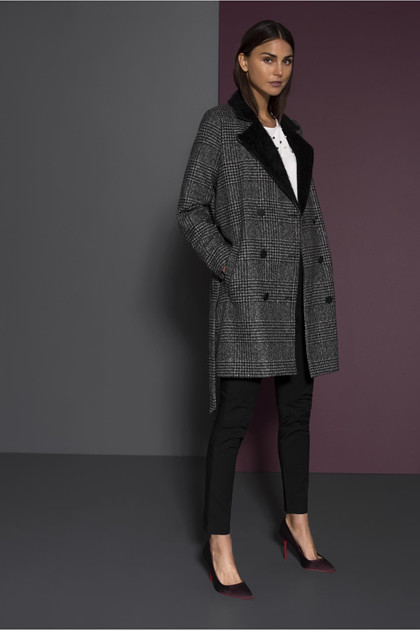 KAFFE TRUDY CHECKED COAT 10502700