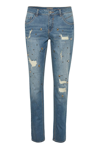 CREAM DIAMOND JEANS - RELAXED FIT 10603459