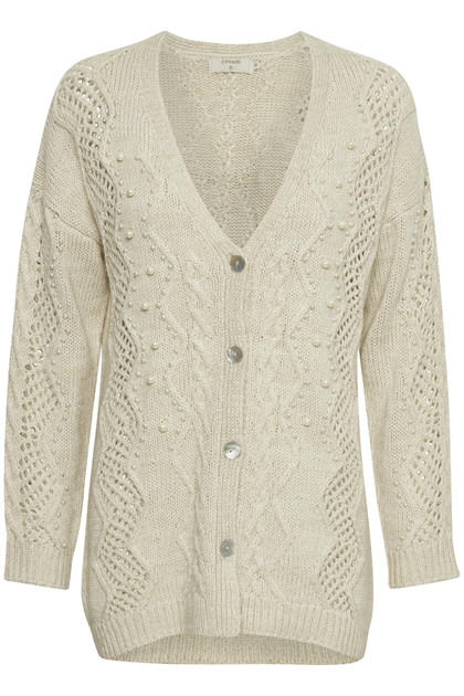 CREAM JESS STRIK CARDIGAN 10603625