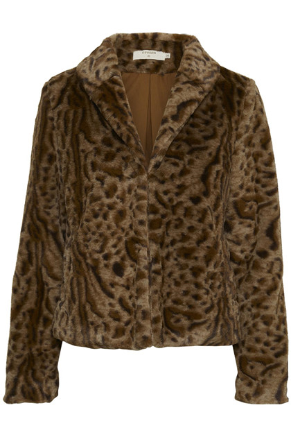 CREAM CHAR FUR JACKET 10603681