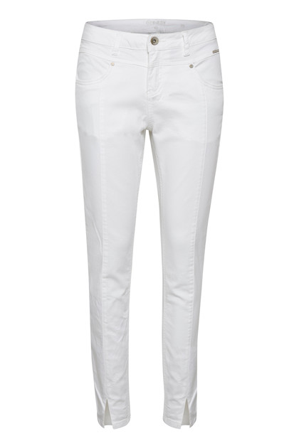 CREAM AMALIE TWILL JEANS - KATY FIT 10604378