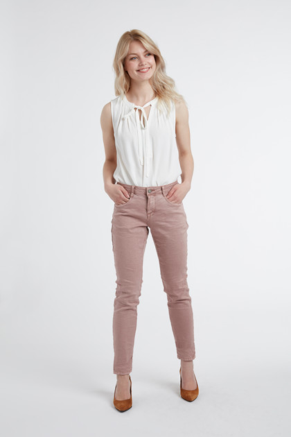 CREAM LOTTE TWILL JEANS - COCO FIT 10604409