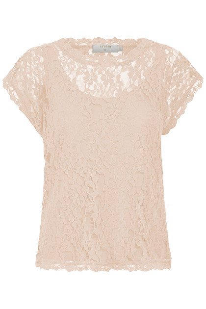 CREAM VIVI LACE BLUSE 10604513