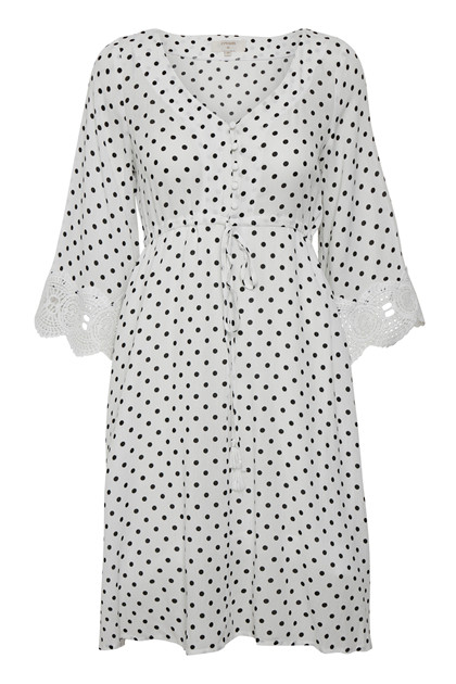 CREAM BEA DOT DRESS 10604595