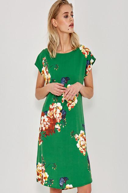Denim Hunter SØRINE GREEN FLOWER DRESS 10701753