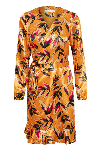 GESTUZ ORANGINA WRAP DRESS