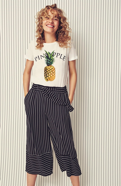 b.young GROZETTE CROPPED WIDE PANT 20804169