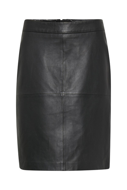 b.young ELVADO LEATHER SKIRT 20803489