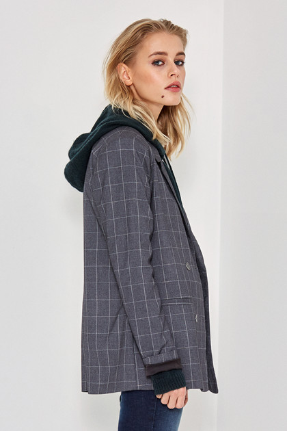 Denim Hunter JANE PLAID BLAZER 10701895