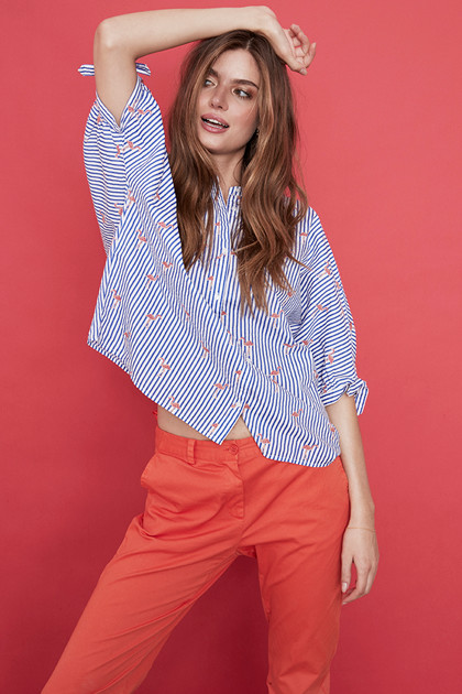 SOAKED IN LUXURY LALA SHIRT 30402935