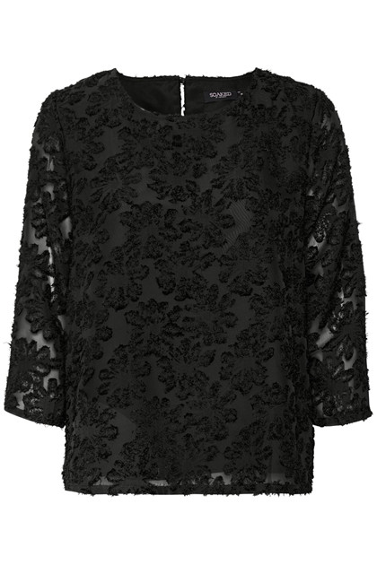 SOAKED IN LUXURY JENNA BLUSE 3/4 30403427