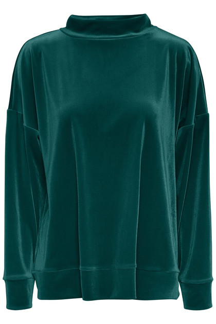 SOAKED IN LUXURY VELVET PULLOVER 30403492