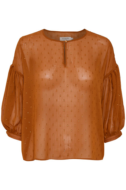 SOAKED IN LUXURY NARNIA 3/4 BLUSE 30403884 G