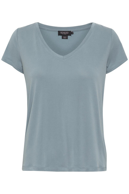 SOAKED IN LUXURY SL COLUMBINE V-NECK T-SHIRT 30404284 S
