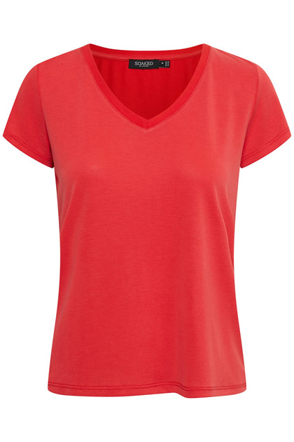 SOAKED IN LUXURY SL COLUMBINE V-NECK T-SHIRT 30404284 H