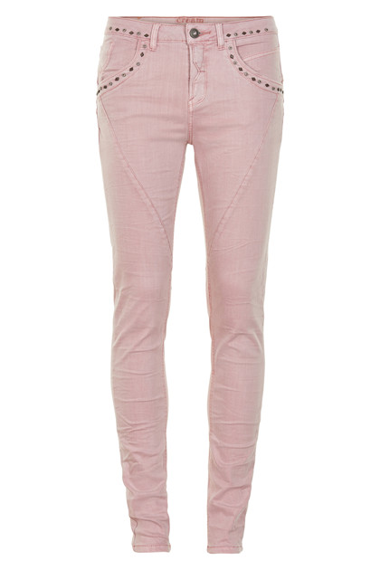 CREAM MILA TWILL PANTS - SHAPE FIT 10602752 S