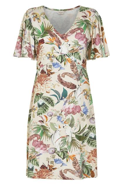 CREAM ESTHER SHORT DRESS 10604319